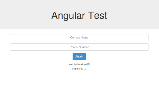 AngularJS Test App