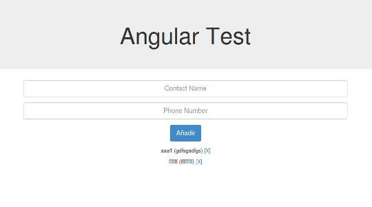 AngularJS Test App