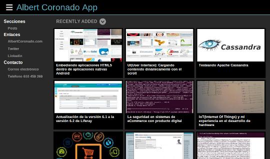 AlbertCoronado.com App Tablet