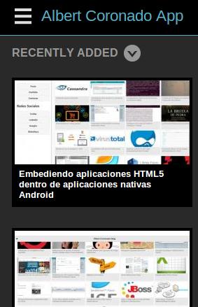 AlbertCoronado.com App Phone