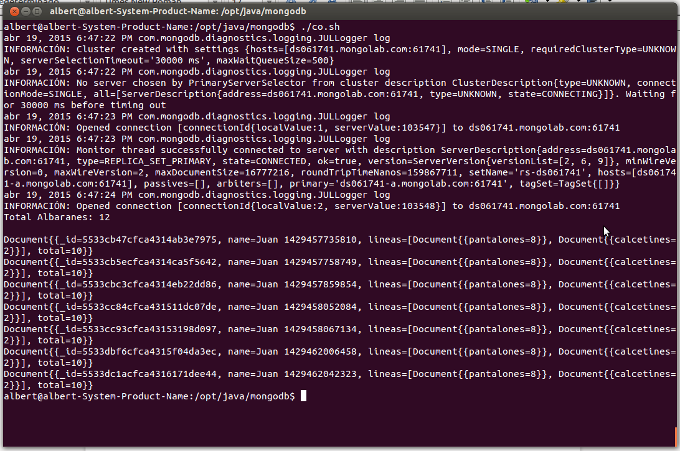 MongoDB app out