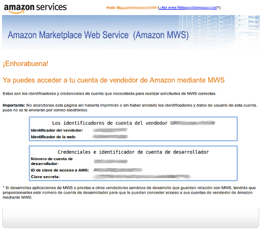 Amazon Developer Registration Page