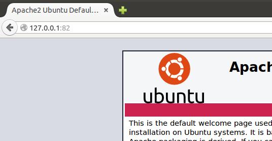 Apache server over docker