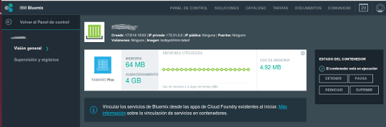 IBM Bluemix container