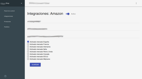 Configuración Integraciones 2(Amazon)