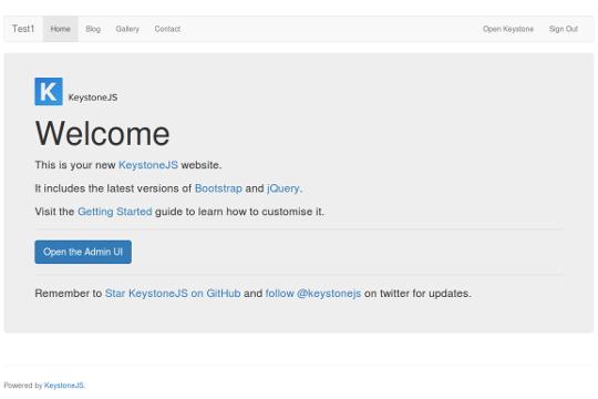 KeystoneJS web