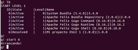 Apache Felix OSGI Console