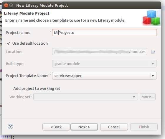 Create Liferay Module Project 2