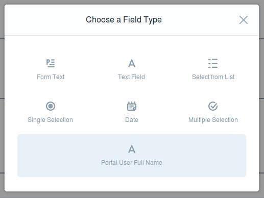 Liferay form field types list