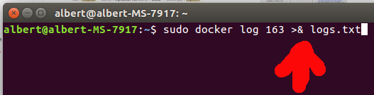 Redirigir logs Docker a un fichero
