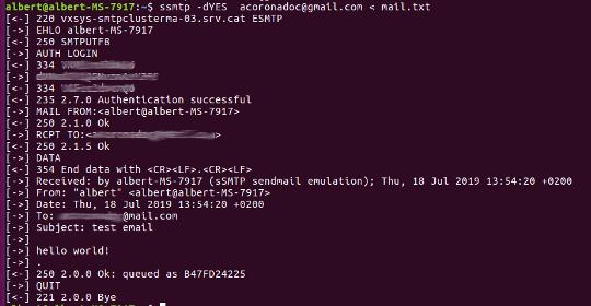 Send Mail ssmtp