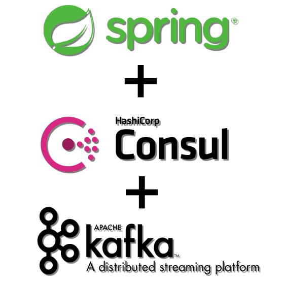 Spring Framework  + Hashicorp Consul + Apache Kafka