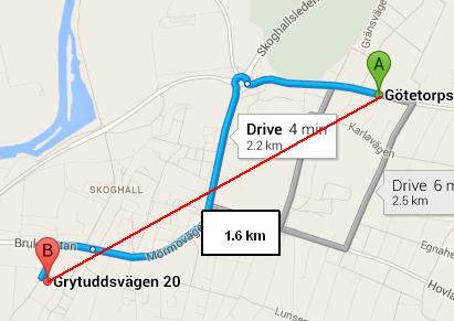 GPS distance in MariaDB